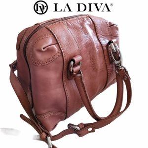 La Diva Italian Leather Tote